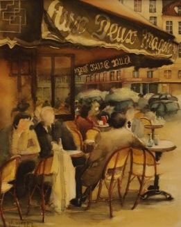café Aux deux Magots st Germain des Prés Paris