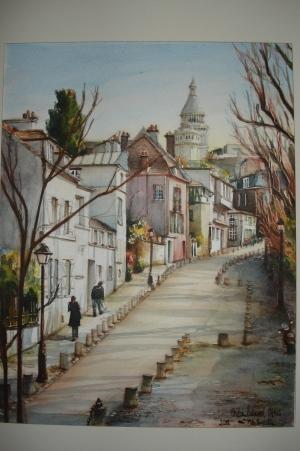 Rue de l'Abreuvoir Monmartre Paris