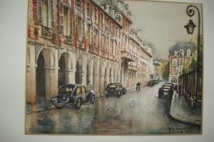 Place des Vosges Paris 1950