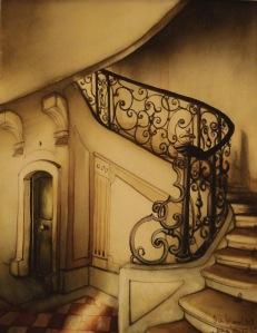 Escalier Louis XV Place des Vosges Paris