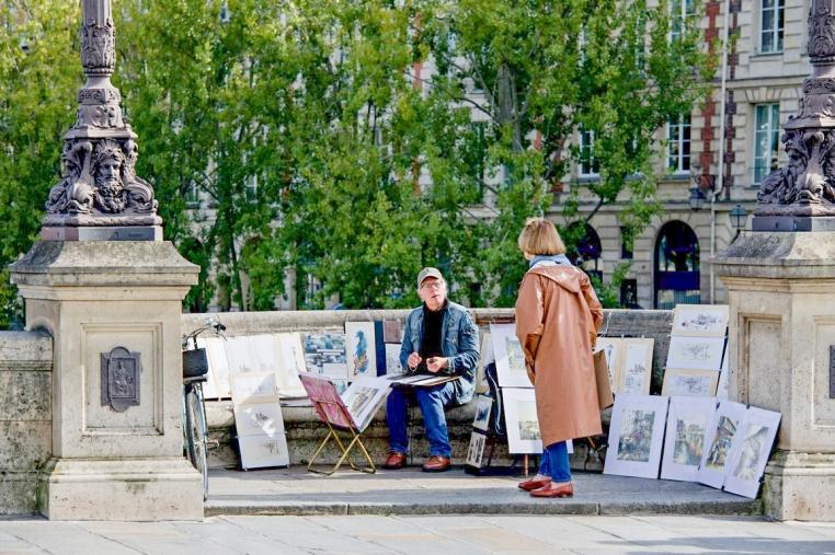 _AB12577- DIDIER LESPAGNOL ARTISTE PEINTRE QUARTIER DU PONT NEUF PARIS 10 21 PHOTO GILLES COUËD)